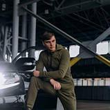 Костюм чоловічий спортивний Cosmo хакі Кофта толстовка і штани плюс Подарунок SKL59-261312, фото 2