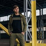 Костюм чоловічий спортивний Cosmo хакі Кофта толстовка і штани плюс Подарунок SKL59-261312, фото 8