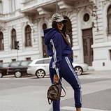 Спортивний костюм жіночий з лампасами джинсовий SKL11-280454, фото 2