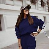 Спортивний костюм жіночий з лампасами джинсовий SKL11-280454, фото 3