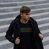 Костюм чоловічий чорний демісезонний Куртка і штани утеплені Ключниця в подарунок SKL59-283339, фото 3