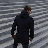 Костюм чоловічий чорний демісезонний Куртка і штани утеплені Ключниця в подарунок SKL59-283339, фото 5