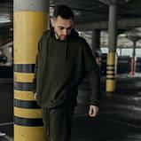 Костюм чоловічий спортивний весняно-осінній Oversize хакі Худі толстовка і штани SKL59-283425, фото 2