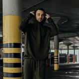Костюм чоловічий спортивний весняно-осінній Oversize хакі Худі толстовка і штани SKL59-283425, фото 3