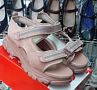 Босоножки сандалии на платформе замшевые розовые для девочки 32(20,5),33,34(21,5)35(22)36(22,5)