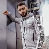 Костюм мужской спортивный серый камуфляж Кофта толстовка штаны SKL59-290686, фото 6