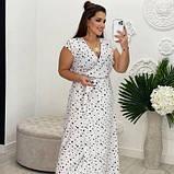 Жіноче плаття біле в чорний горох SKL11-290847, фото 2