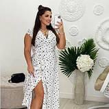 Жіноче плаття біле в чорний горох SKL11-290847, фото 3