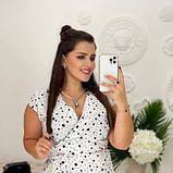 Жіноче плаття біле в чорний горох SKL11-290847, фото 4
