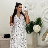 Жіноче плаття біле в чорний горох SKL11-290847, фото 5