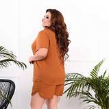 Жіночий костюм сорочка і шорти гірчичний SKL11-293810, фото 2
