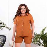 Жіночий костюм сорочка і шорти гірчичний SKL11-293810, фото 3