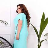 Жіноче плаття фактурний трикотаж м'ятна SKL11-293827, фото 3