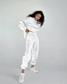 Женский спортивный костюм белый SKL11-291915
