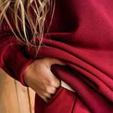 Женский костюм хлопковая трехнить бордового цвета SKL11-292098, фото 8