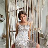 Жіноче бежеву сукню квітковий принт SKL76-293893, фото 3
