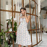 Жіноче бежеву сукню квітковий принт SKL76-293893, фото 4