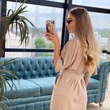 Платье из льна миди мокко SKL76-293896, фото 10
