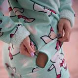 Жіноча піжама комбінезон із застібкою ззаду Popojama розмір XL бірюзового кольору SKL70-294602, фото 9