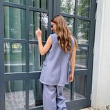 Костюм жіночий жилет і брюки сірий SKL11-292530, фото 2