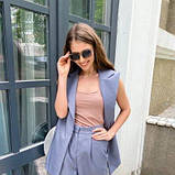 Костюм жіночий жилет і брюки сірий SKL11-292530, фото 5