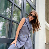 Костюм жіночий жилет і брюки сірий SKL11-292530, фото 7
