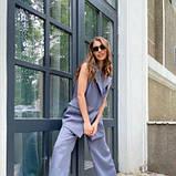 Костюм жіночий жилет і брюки сірий SKL11-292530, фото 8