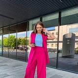 Костюм жіночий жилет і штани малиновий SKL11-292531, фото 6