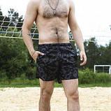 Шорты купальные мужские Breeze c принтом серый камуфляж пляжные серые с черным летние SKL59-294609, фото 4