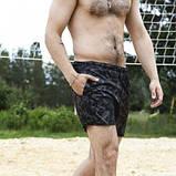 Шорты купальные мужские Breeze c принтом серый камуфляж пляжные серые с черным летние SKL59-294609, фото 5