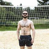 Шорты купальные мужские Breeze c принтом серый камуфляж пляжные серые с черным летние SKL59-294609, фото 7