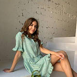 Платье свободного кроя фисташка SKL11-294619, фото 7