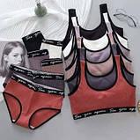 Комплект жіночої білизни топ і трусики бузковий SKL11-292581, фото 4