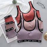 Комплект жіночої білизни топ і трусики бузковий SKL11-292581, фото 5