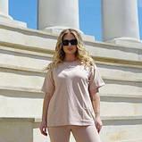 Жіночий костюм з футболкою і велосипедками бежевий SKL11-292635, фото 10