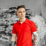 Чоловічий спортивний костюм літній червоно-чорний футболка поло і шорти трикотажні SKL59-292679, фото 3