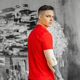 Чоловічий спортивний костюм літній червоно-чорний футболка поло і шорти трикотажні SKL59-292679, фото 4
