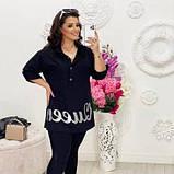 Жіноча вільна сорочка чорна SKL11-292704, фото 2