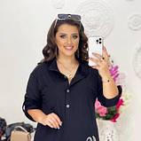 Жіноча вільна сорочка чорна SKL11-292704, фото 3