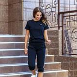 Женский спортивный костюм футболка и бриджи черного цвета SKL11-292726, фото 5