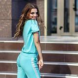 Жіночий спортивний костюм футболка та бриджі SKL11-292728, фото 4