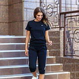Женский спортивный костюм футболка и бриджи SKL11-292728, фото 7