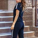Жіночий спортивний костюм футболка та бриджі SKL11-292728, фото 8