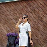 Сукня-кардиган костюмка біла в чорну клітку SKL11-292749, фото 2