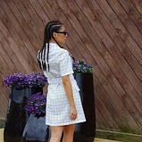Сукня-кардиган костюмка біла в чорну клітку SKL11-292749, фото 3