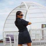 Платье-кардиган костюмка в клетку SKL11-292751, фото 4