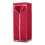 Шафа тканинний складаний 8863 60/45/150 (Сірий, кавовий, бордо), фото 3
