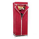 Шафа тканинний складаний 8863 60/45/150 (Сірий, кавовий, бордо), фото 4