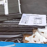 Шафа тканинний ніж 8864 75/45/145 (Сірий, кавовий, бордо), фото 3