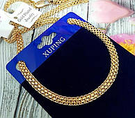 Ланцюжок Бісмарк якірний з медичного золота ХР, розмір 50см*4мм
